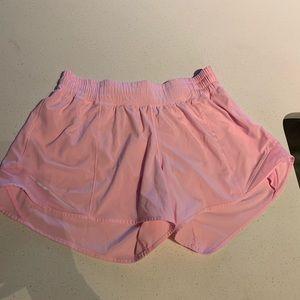 Pink lululemon shorts